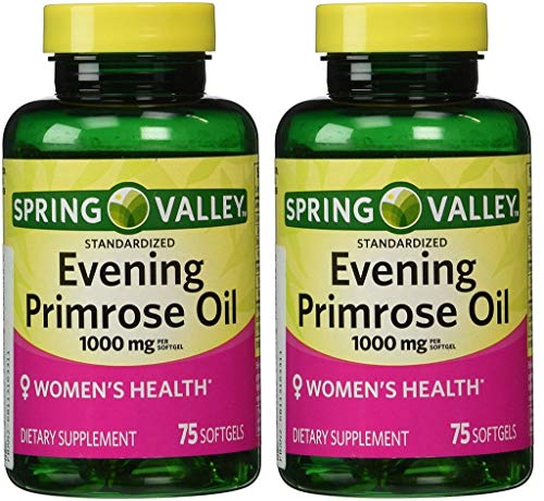 Spring Valley - Evening Primrose Oil 1000 mg,Twin Pack 150 Total Softgels