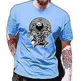 Shirt Hombres Estilo Hip Hop Cuello Redondo Cómoda Hombres T-Shirt Verano Astronauta Impresión Creativa Hombres Shirt Ocio Tendencia De Moda Cool Manga Corta Hombres Streetwear AT15 XXL