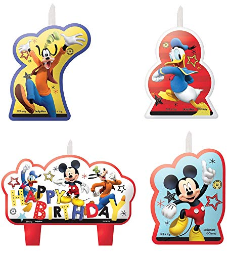 Amscan 013051762872 Mickey Mouse Party Supplies On The Go Candles, One Size Multicolor