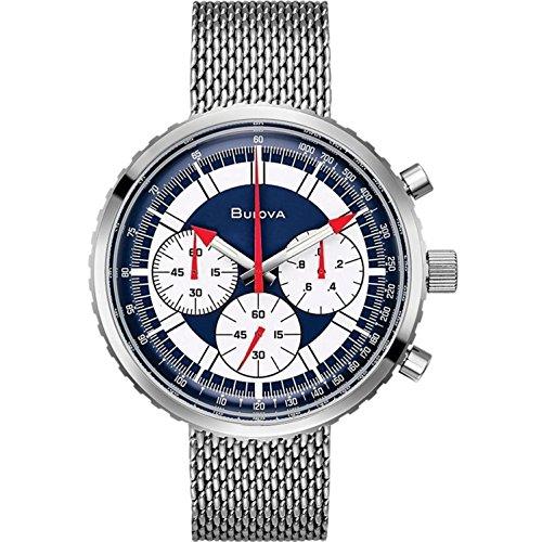 Bulova Herren analog Quarz Uhr mit Edelstahl Armband 96K101
