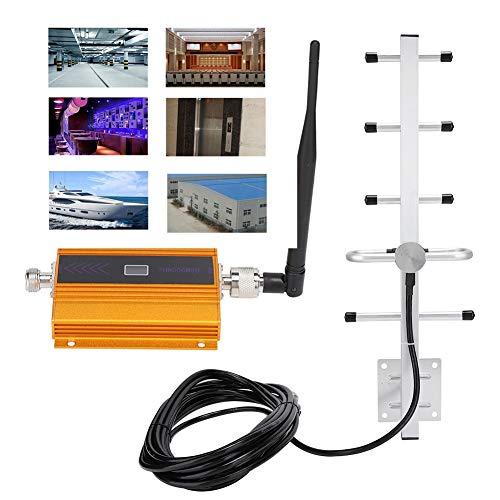 Amplificador de señal de teléfono celular, GSM 900MHz Amplificador de señal de teléfono móvil 3G 4G Amplificador repetidor, Extensor de techo interior/Kit de antena exterior para oficina en casa