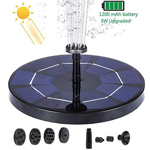 WWJJLL Schwimmdock Solarbrunnen-Pumpe, 6V 2,5W / 4,5V 3W Solarspeicher-Brunnen, einfach installieren, verwendet für Vogel-Bad, Teich, Garten Dekoration, Swimming-Pool,3W