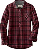 Legendary Whitetails Women's Standard Firelight Popover Flannel Tunic, Autumn Maple Plaid, Large