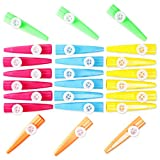 Kazoo Instrumentos musicales recuerdos de fiesta para niños (5 colores, 24 unidades)