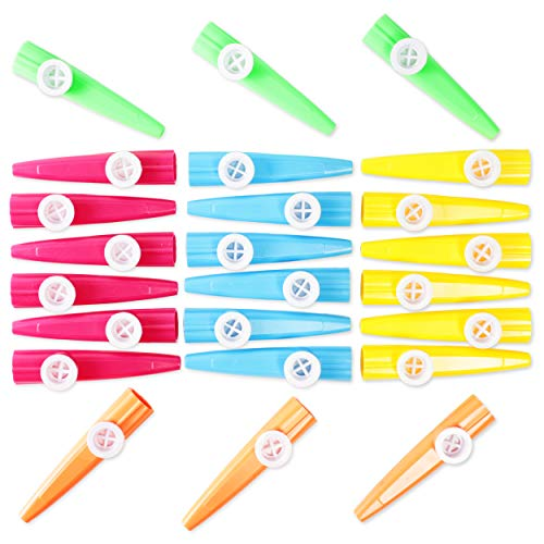 Kazoo Musikinstrumente Party Favours, 24er Pack, 5 Farben