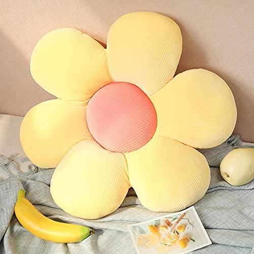 YZGSBBX 37/46 / 56 cm Squishy Plüsch Pflanze Kissen Gefüllte Blumen Sitzkissen Rosa Gelb Grün Stuhl Dekoration Plüschspielzeug (Color : E, Größe : 37cm)