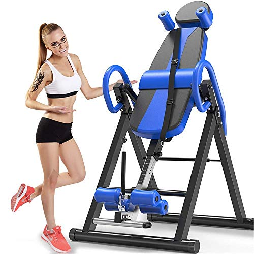 Great Deal! C-Xka Gravity Heavy Duty Inversion Table with Headrest & Adjustable Protective Belt Back...