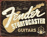 フェンダー★エレキギター・Since 1954・ストラトキャスター★アメリカンブリキ看板