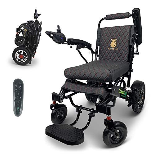 2020 New Remote Control Electric Wheelchairs Lightweight Foldable Motorize Power Electrics Wheel Chair Mobility Aid (Large)