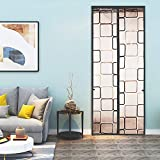 Keador Insulated Door Curtain, Magnetic Thermal Insulated Door Curtain, Self Sealing Reinforced Door Screen Insulated Door Cover for Patio, Kitchen, Bedroom, Air Conditioner Room(36 X 82 inch, Grey)