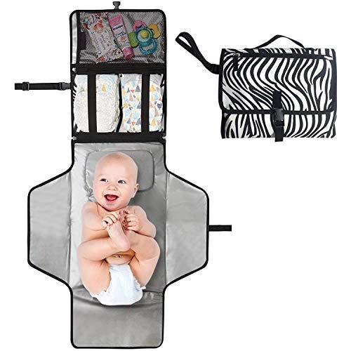 Tragbare Wickelunterlage für unterwegs Baby Wickeln auf Reisen Wickeltisch, Wasserdicht Baby Erstausstattung Windeln wechseln mat Geschenk zur Gebur Praktische Baby Helfer, Baby Geburt Geschenk