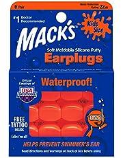 Macks Kids PillowSoft Earplugs 6 Pair Pack - Orange