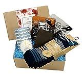 Cesta de regalo de San Valentín para hombre con calcetines, chocolates, cartera y máscaras, regalo de San Valentín, novios y San Valentín