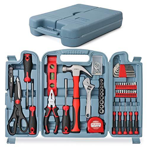 Hi-Spec 53-teiliges Werkzeugset Set. Allgemeine DIY-Reparatur- und Wartungshandwerkzeuge für Haus und Garage. Komplett in einer Aufbewahrungsbox