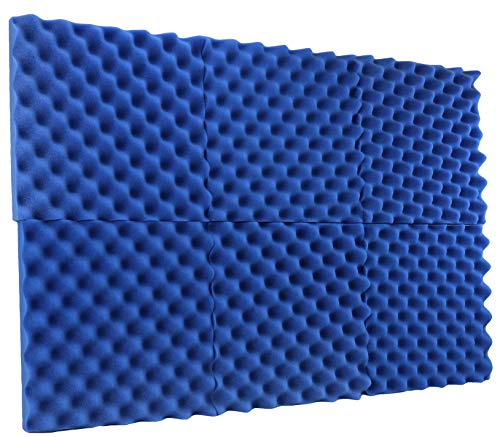 New Level 8 Pack- Acoustic Panels Studio Foam Convoluted 2.5 X 12 X 12 Sound TilesEgg Crate