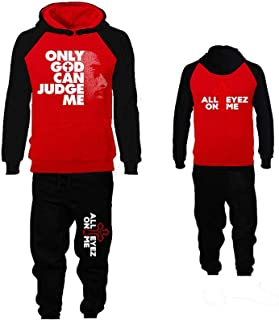 Hip-Hop R&B Inspired Hoodie Jogger Set, Sweater and Sweatpant Set