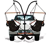 Hammaka Trailer Hitch Stand and 2 Black Chairs Combo - Wood Dowels