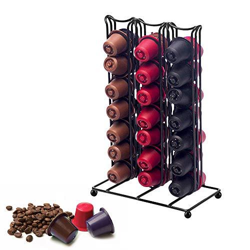 Konesky Iron Coffee Capsule Rack - Soporte para 42 cápsulas de café para Nespresso Coffee Capsule