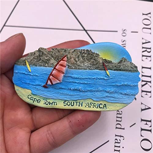XIAOXIAO Etiqueta engomada del refrigerador de Color Tailandia Corea Francia Alemania Viena Inglaterra España Portugal Recuerdo turístico Imán magnético para refrigerador-Playa de Sudáfrica
