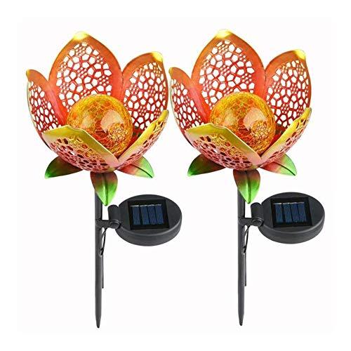 A-myt puede vestir el jardín 1/2/4 unids flor lámpara IP65 hierro artesanía decoración lámparas césped paisaje decoración impermeable noche luz LED solar jardín sin nubes multifuncional