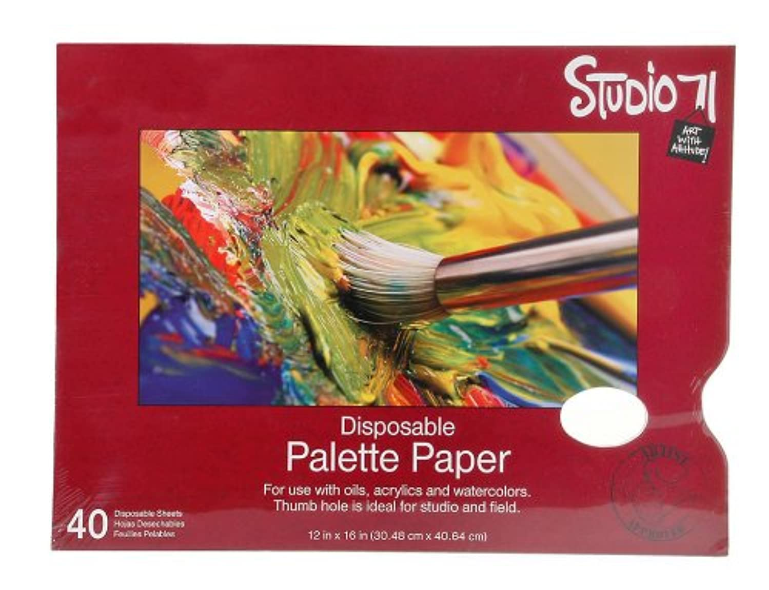 Darice Studio 71 12-Inch-by-16-Inch, 40-Sheet Palette