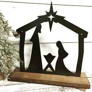 Nativity Scene Farmhouse Christmas Decor metal - Manger Scene - Rustic Christmas Decor