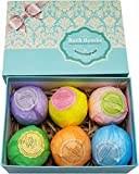 Bath Bombs Ultra Gift Set By NATURAL SPA - 6 XXL All Natural Fizzies...