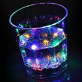 bar@drinkstuff Líquido Activado Intermitente Vaso 7.7oz/220ML–en Caja de Regalo de la Novedad LED luz de Cristal de plástico