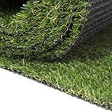 Carpeto Rugs Premium Gazon Artificiel pour Balcon Terrasse Synthetique Exterieur Vert - Synthétique au mètre 250 tailles disponibles Poils Longs - 1m 2m 3m 4m - Vert 400 x 400 cm (16m2)