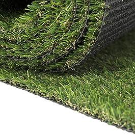 Carpeto Rugs Premium Gazon Artificiel pour Balcon Terrasse Synthetique Exterieur Vert – Synthétique au mètre 250 tailles…