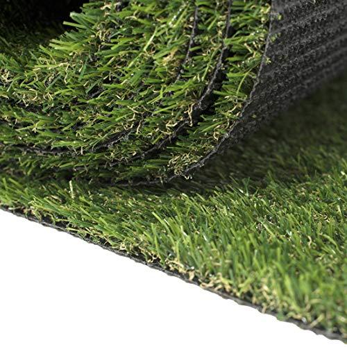 Premium Kunstrasen Rasenteppich für Garten Balkone Terrassen Wintergärten - Höhe: 20 mm Meterware - Kunststoffrasen Wasserdurchlässig mit Drainage - Grün 200 x 120 cm