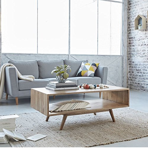 Table Basse en Bois de Mindy Double Plateau