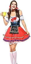 ASDF Oktoberfest Kurzkellner Kostüm rot Dienstmädchen