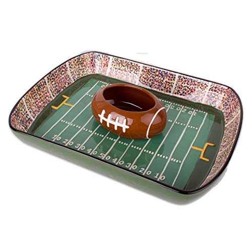Football Stadium Chip And Dip Sports Serving Set