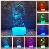 MHA Dabi 3D Illusion My Hero Academia LED Anime Lamp Desk 16 Colors Change Remote Control Table Night Light for Kids Birthday