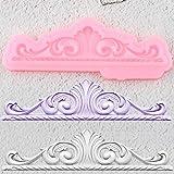 YLBHD Stampi in Silicone per Bordi3DFoglie Strumenti per La Decorazione di Torte Fondenti per Matrimoni Stampi per Caramelle al Cioccolato E Argilla