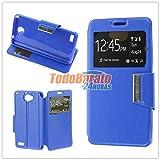 Todobarato24h Funda Libro Ventana Azul LG L Bello 2 X150