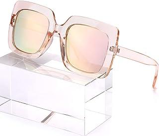 نظارات شمسية مستقطبة كبيرة الحجم من MuJaJa للنساء، حماية من الأشعة فوق البنفسجية، إطار عصري كبير نظارات شمسية