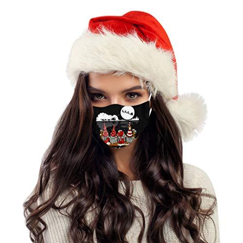 SicongHT 10/20/50 Stück Mundschutz Lustig Erwachsene Weihnachten Einweg Mund Nasenschutz Weihnachts Druck Atmungsaktiv Multifunktionstuch Mund-Nasen Bedeckung Halstuch Schals(50 Stück,K)