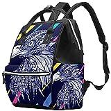 WJJSXKA Mochilas Bolsa de pañales Laptop Notebook Mochila de viaje Senderismo Daypack para Mujeres Hombres - Ilustración de águila abstracta Vector