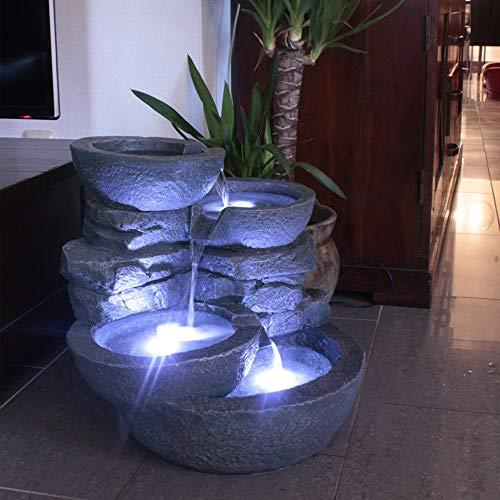 Arnusa Fontaine Cascades de chez avec éclairage à Del Fontaine de Jardin Fontaine d'intérieur