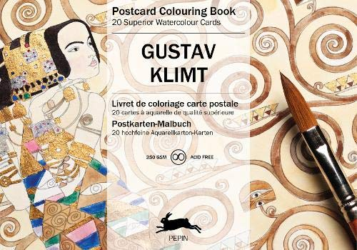 Gustav Klimt: Postcard Colouring Book / Postkarten - Malbuch (Postcard coloring book)