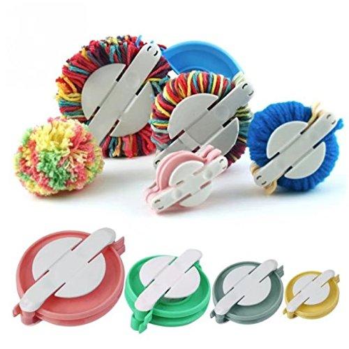 CELINE Lin 4 tailles/Lot Outil de tissage Pom Pom Maker Fluff Boule machine à pain Aiguille à tricoter DIY à coudre Accessoires