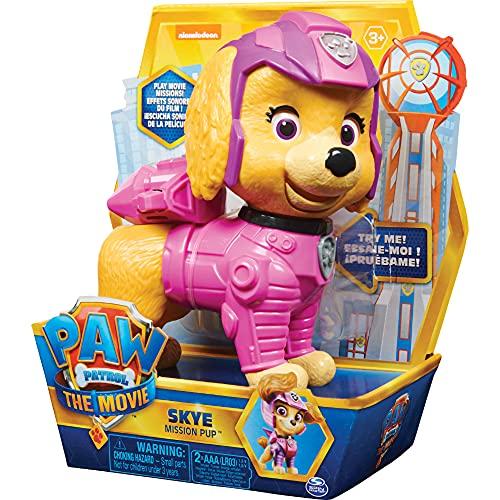 Paw Patrol Interaktive 15cm große Skye Mission Pup-Figur aus dem Kinofilm, mit Geräuscheffekten, ab 3 Jahren
