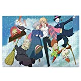 Stmxsonaiel Anime H-Owl's Moving Castle-Hayao Miyazaki Jigsaw Puzzle Picture Puzzles for Unisex Teens Adults 1000 Piece Vivid Long-Lasting Color Nice Gift