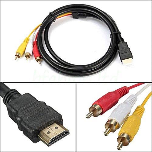 1080p HDMI mannelijke S-Video 3rca AV-audiokabeladapter voor TV HD TV DVD 1,5 m