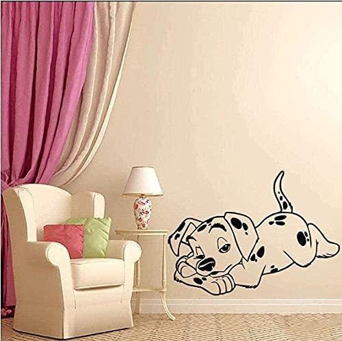 Pegatina de pared de vinilo pegatina de perro puntero dálmata dibujos animados Animal decoración de pared arte dormitorio sala de juegos Mural cartel 42X30Cm