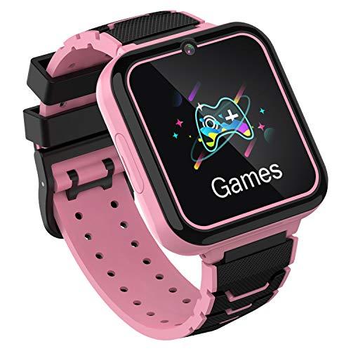 Kids Smart Watch, Touch Screen Bambini Watch con chiamata bidirezionale SOS Flash Recorder Calculator Sveglia musicale Modalità silenziosa per i regali di compleanno per i giocattoli di festa (ROSA)