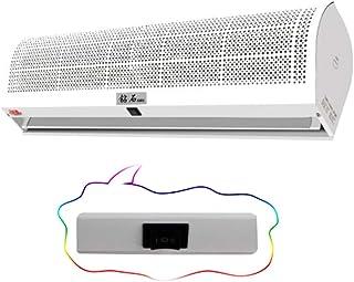 Cortina de Aire Ventilador De Alta Potencia para Puerta de Garaje, Locales comerciales y domésticos, con Control Remoto e Interruptor de botón