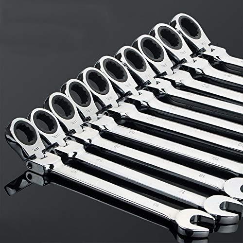 Allamp Durable 6-32mm CRV Flexible trinquete Llave combinada Cabeza de la Llave Herramientas de Mano Ajustable for el Coche Herramientas industriales (Size : 10mm)
